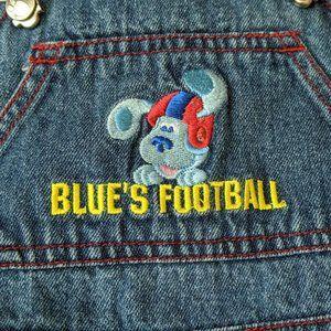 Blues Clues Football Denim Jean Overalls